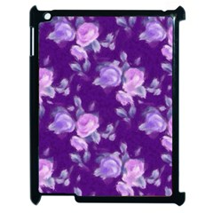 Vintage Roses Purple Apple iPad 2 Case (Black)