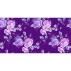 Vintage Roses Purple YOU ARE INVITED 3D Greeting Card (8x4)