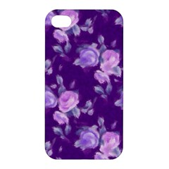 Vintage Roses Purple Apple iPhone 4/4S Hardshell Case