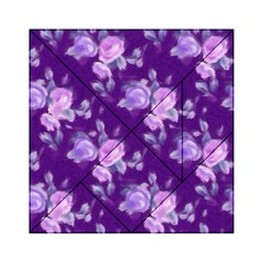 Vintage Roses Purple Acrylic Tangram Puzzle (6  x 6 )