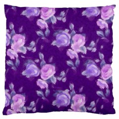 Vintage Roses Purple Large Cushion Cases (One Side)