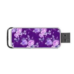 Vintage Roses Purple Portable USB Flash (One Side)