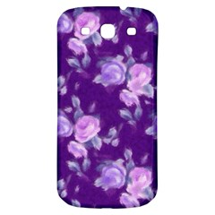 Vintage Roses Purple Samsung Galaxy S3 S III Classic Hardshell Back Case