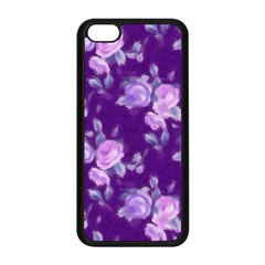 Vintage Roses Purple Apple iPhone 5C Seamless Case (Black)