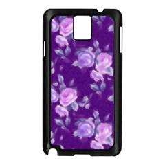 Vintage Roses Purple Samsung Galaxy Note 3 N9005 Case (Black)