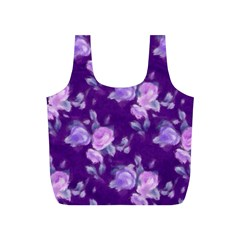 Vintage Roses Purple Full Print Recycle Bags (S)