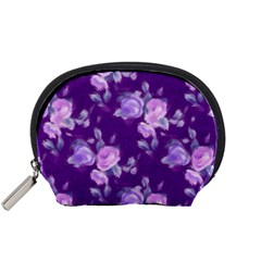 Vintage Roses Purple Accessory Pouches (Small)