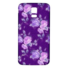 Vintage Roses Purple Samsung Galaxy S5 Back Case (White)