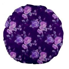 Vintage Roses Purple Large 18  Premium Flano Round Cushions