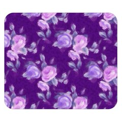 Vintage Roses Purple Double Sided Flano Blanket (Small)