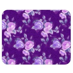 Vintage Roses Purple Double Sided Flano Blanket (Medium)