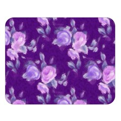 Vintage Roses Purple Double Sided Flano Blanket (Large)