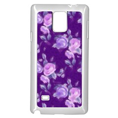 Vintage Roses Purple Samsung Galaxy Note 4 Case (White)