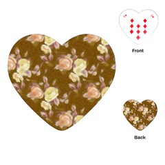 Vintage Roses Golden Playing Cards (Heart)