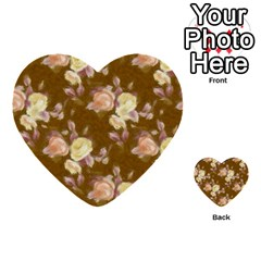Vintage Roses Golden Multi-purpose Cards (Heart)