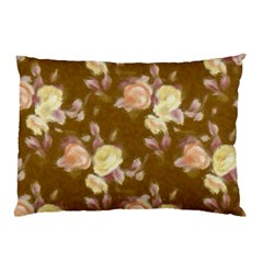 Vintage Roses Golden Pillow Cases