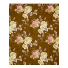 Vintage Roses Golden Shower Curtain 60  x 72  (Medium)