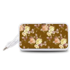Vintage Roses Golden Portable Speaker (White)