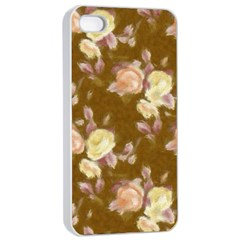 Vintage Roses Golden Apple iPhone 4/4s Seamless Case (White)