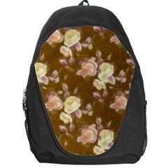 Vintage Roses Golden Backpack Bag