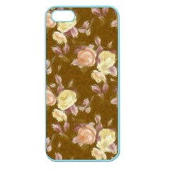 Vintage Roses Golden Apple Seamless iPhone 5 Case (Color)