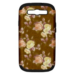 Vintage Roses Golden Samsung Galaxy S III Hardshell Case (PC+Silicone)