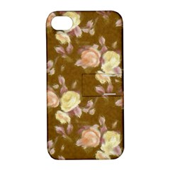 Vintage Roses Golden Apple iPhone 4/4S Hardshell Case with Stand