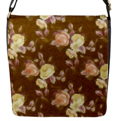 Vintage Roses Golden Flap Messenger Bag (S)