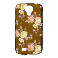 Vintage Roses Golden Samsung Galaxy S4 Classic Hardshell Case (pc+silicone)