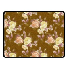Vintage Roses Golden Double Sided Fleece Blanket (Small)