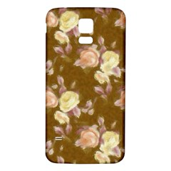 Vintage Roses Golden Samsung Galaxy S5 Back Case (White)