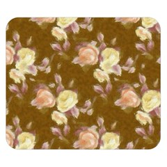 Vintage Roses Golden Double Sided Flano Blanket (Small)