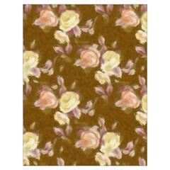 Vintage Roses Golden Drawstring Bag (Large)