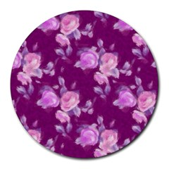 Vintage Roses Pink Round Mousepads