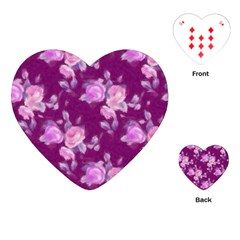 Vintage Roses Pink Playing Cards (heart)
