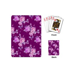 Vintage Roses Pink Playing Cards (mini)