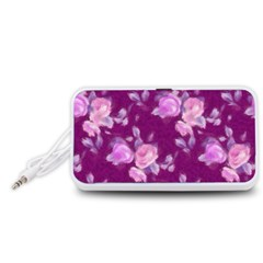 Vintage Roses Pink Portable Speaker (White)