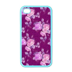 Vintage Roses Pink Apple Iphone 4 Case (color)