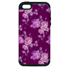 Vintage Roses Pink Apple iPhone 5 Hardshell Case (PC+Silicone)