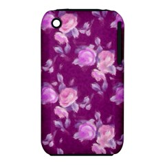 Vintage Roses Pink Apple iPhone 3G/3GS Hardshell Case (PC+Silicone)