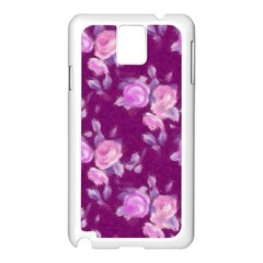 Vintage Roses Pink Samsung Galaxy Note 3 N9005 Case (White)