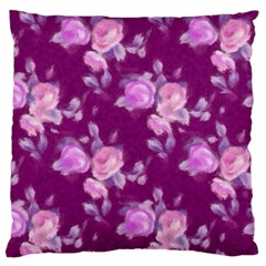 Vintage Roses Pink Standard Flano Cushion Cases (One Side)