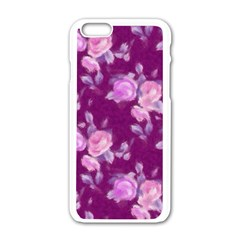 Vintage Roses Pink Apple iPhone 6/6S White Enamel Case
