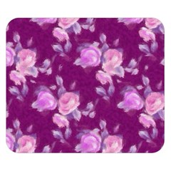 Vintage Roses Pink Double Sided Flano Blanket (Small)