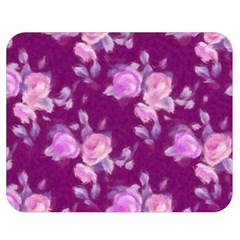 Vintage Roses Pink Double Sided Flano Blanket (Medium)