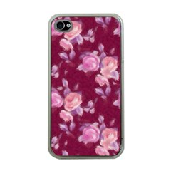 Vintage Roses Apple iPhone 4 Case (Clear)