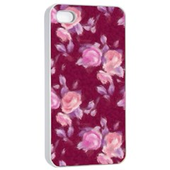 Vintage Roses Apple iPhone 4/4s Seamless Case (White)