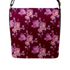 Vintage Roses Flap Messenger Bag (L)