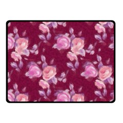 Vintage Roses Double Sided Fleece Blanket (small)