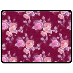 Vintage Roses Double Sided Fleece Blanket (large)